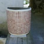 semicircolari a parete  con o senza mosaico cm 50 x 50h